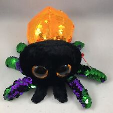 """TY Halloween 6"""" Flippables GLINT the Spider Beanie Boos Sequins Plush Toy MWMTs"""