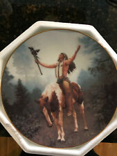 Hamilton Collection Plate Indian Design Deliverance Mystic Warriors