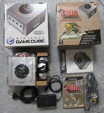 Nintendo Game Cube Konsole Zelda the Windwaker Limited Edition Pak Original Con.