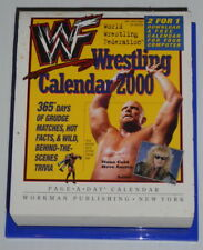 RARE WWF WWE DESK CALENDAR 2000 WRESTLING PAGE-A-DAY 365 MATCHES