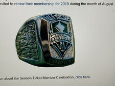 {20} LOT * Seattle Sounders FC MLS Cup Replica Championship RING *LIMITED* 2016