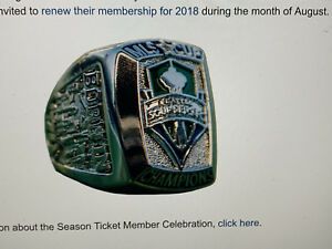 {4} LOT * Seattle Sounders FC MLS Cup Replica Championship RING *LIMITED* 2016