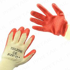 "12 x Pairs 11"" Extra Large NON-SLIP LATEX COATED GLOVES Garden Weeding/Gardening"