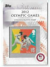 RARE 2012 TOPPS OLYMPIC STAMP CARD #CS-27 ~ FENCING ~ L@@K!!!