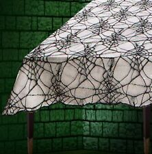 Black Lace Spider Web Table Display Cloth Halloween Party Decoration P8485