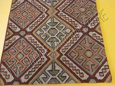 """Pottery Barn Kashan Dhurrie Stripe Kilim Floor Pillow Cover 30"""" Wool Handwoven"""