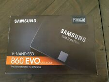 Samsung EVO 860 SSD (500gb) factory sealed NEW IN BOX MZ-76E500B/AM