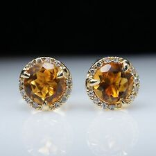 Round Yellow Gold Fine Earrings