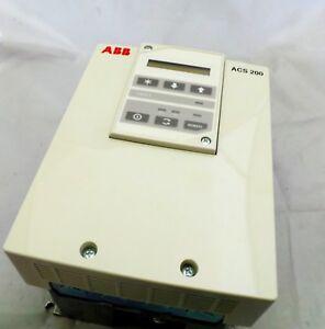 ABB ACS201-6P6-3-00P10 ACS 200 AC DRIVE THREE-PHASE 380-480VAC 4.0KW/7.5HP