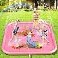 Peradix Splash Pad for Kids,1.7 M Sprinkle and Splash Water Play Mat for