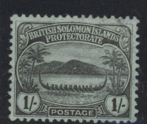 British Solomon Islands Edward VII 1s black-green stamp (SG14) dated 1908 mint