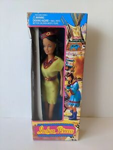 """Toys N Things Vintage 12"""" Indian Princess Doll - Rooted Hair, Bendable Legs"""