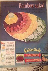 Original Golden Circle, Vintage Advertising 1950's