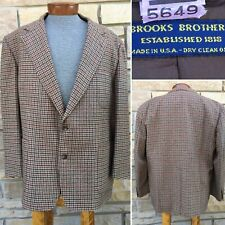 BROOKS BROTHERS Houndstooth Check Luxury Jacket Sport Coat Blazer 46 R