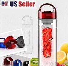 700ml Red Cap Fruit Infusing Infuser Water Bottle Sports Health New