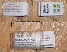 Geocaching Geocache- Behälter- Micro-Dose 48mm + Logbuch NEU