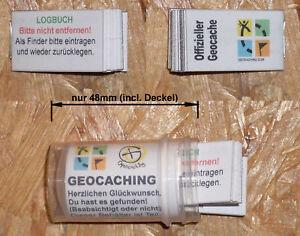 Geocahing Géocache- Behälter- Micro-Dose 48mm + Journal de Bord Neuf