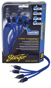 Stinger Pro 6000 Series Audiophile 20' 4 Channel RCA Interconnects Cable SI6420