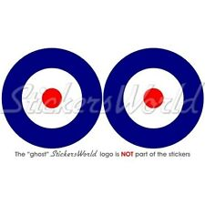 """RAF Royal AirForce TypeA Aircraft Roundel UK British 75mm(3"""") Stickers Decals x2"""