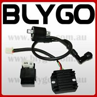 Ignition Coil + CDI UNIT + Regulator 150cc 250cc PIT Quad Dirt Bike ATV Buggy
