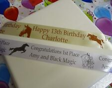 HORSE PERSONALISED RIBBON 45mm width CAKES CELEBRATIONS AWARDS min order 1 metre