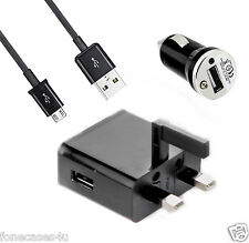 NEW CE MAINS+ CAR CHARGER + MICRO USB CABLE FOR NOKIA LUMIA 620 710 800 920 1020