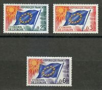 France 1965 MNH Mi 10-12 OFFICIAL STAMPS FOR THE COUNCIL OF EUROPE set **