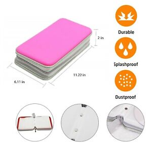 80 CD DVD Carry Case Disc Storage Holder CD Sleeve Wallet Ideal for In Car PINK