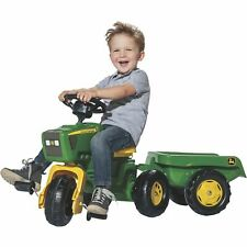 John Deere Kids Children Ride-On Toy 3-Wheel Tricycle Pedal Tractor/Trailer