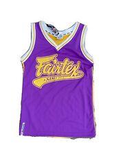 BNWT Fairtex Basketball Jersey Small Muay Thai Purple Yellow S