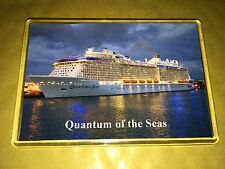 Royal Caribbean QUANTUM OF THE SEAS  Large Fridge Magnet Cruise Ship Night View