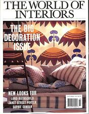 The World of Interiors: The Big Decoration Issue October 1995