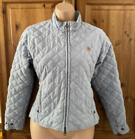 Womans Pale Blue Ariat Quilted Riding Jacket Size S, Excellent Condition