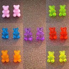 Kawaii Gummy Bear earrings pair *HANDMADE* choose your colour