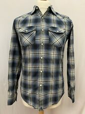 Mens | American Eagle Outfitters Check Western Cowboy Shirt | Blue | Size XS
