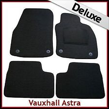 VAUXHALL ASTRA H 2004-2009 Tailored LUXURY 1300g Carpet Mats BLACK