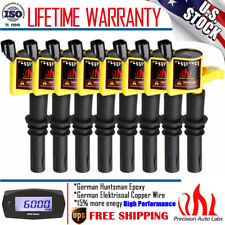 8PACKS DG511 YELLOW IGNITION COIL FOR FORD F-150 4.6L 5.4L V8 TRITON 2004-2008