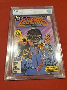 Legends #1 - CBCS NOT CGC 7.0 (1986, DC) 1st app Amanda Waller