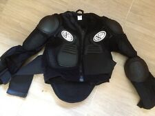 extreme pro wear moto cross body protector kids XS black BMX skateboard