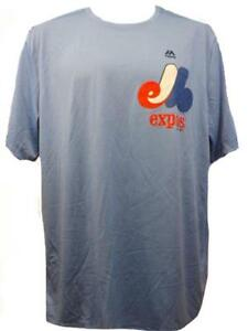 New Montreal Expos Mens Sizes S-M-L--3XL Majestic Coolbase Evolution Shirt
