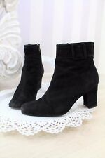 Bertie Black Suede Buckle City Blogger Ankle Boots High Heel 37 4