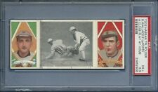 1912 T202 Hassan Triple Folders A Close Play At 3rd Wallace/LaPorte  PSA 5.5 EX+