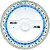 Helix 360 Degree Protractor Angle Measure - 10cm, 100mm
