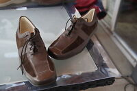 WALDLÄUFER Damen Comfort Schuhe Schnürschuhe Leder Einlagen braun Gr.8,5 G 42,5