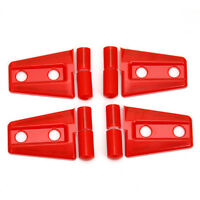 fit 2007-2018 Jeep Wrangler JK 2dr Red ABS Door Hinge Cover Protector Trim 12pcs