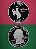 Silver 2007 S Wyoming Proof State Quarter Deep Cameo Combined Shipping