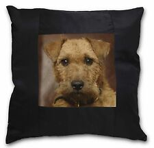More details for lakeland terrier dog black border satin feel cushion cover with pill, ad-lt2-csb