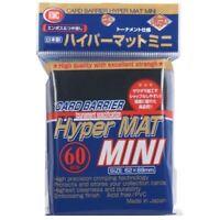 1 x KMC MINI HYPER MAT BLACK Card Barrier Protector Sleeves 60ct Fit Yugioh