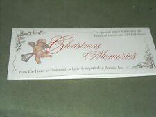 1996 Christmas memories log pamphlet house of fontanini by Roman rare 8.5X3 7/ 8