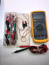 Fluke 87v 87 V Industrial True Rms Digital Multimeter With Leads And Accessories